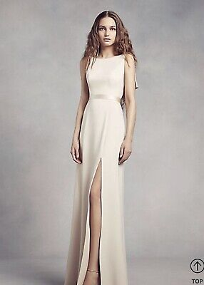 658ea560568 Davids Bridal Vera Wang Champagne color Dress Gown Sz 10 NEW With Tags