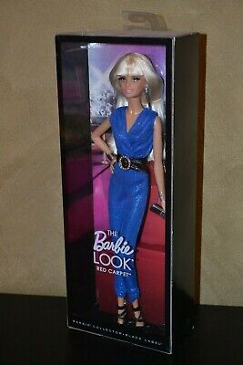Barbie Doll 2013 The Barbie Look Red Carper Blue Jumpsuit