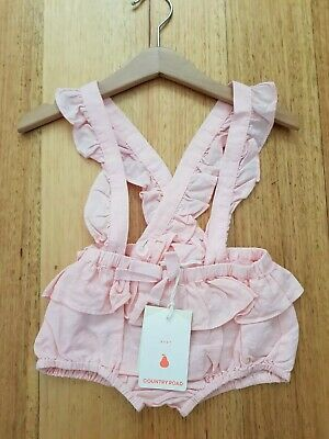 BNWT Country Road Cotton Linen Ruffle Romper- Size 18-24 Months **FREE POSTAGE