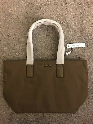 e6719a0ad NEW MARC JACOBS $225 Stone Grey Large Nylon Wingman Tote Bag Purse Bloomies  FAB