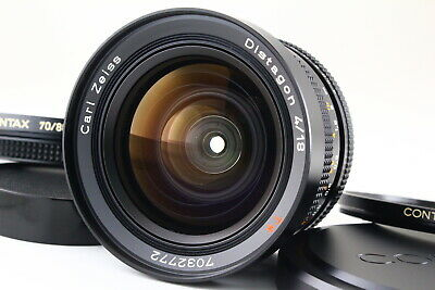 [AB Exc+] CONTAX Carl Zeiss Distagon 18mm f/4 T* MMG Lens w/Caps From JAPAN 5451