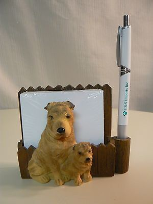 E&S Imports SHAR PEI MAGNETIC NOTE PAD & Pen NEW #46480-36 Sits DESKTOP