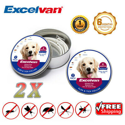 2X Pet Dogs 25-Inch Adjustable Flea & Tick 6 Months Protection Collar Waterproof