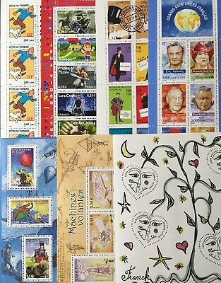 Timbres France Neufs - Lot 41 timbres dont 4 Blocs et 3 Carnets - Faciale 23,06€