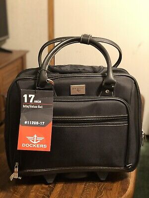 Dockers 17 Inch Rolling Briefcase New