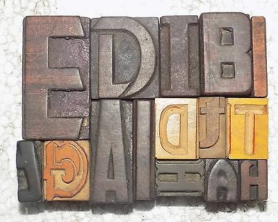 Mix 10 Letterpress Letter Wood Type Printers Block Collection.vb-447 A Great Variety Of Goods Business & Industrial Printing & Graphic Arts