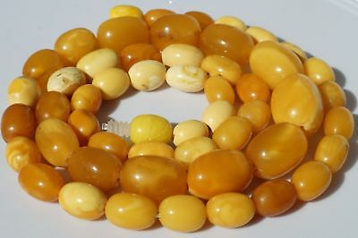 Antique Baltic amber necklace 15 grams tiger white color, High quality.