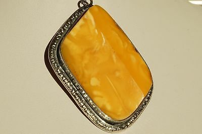 Antique natural amber pendant 30 grams, top 1 quality , white, yellow color