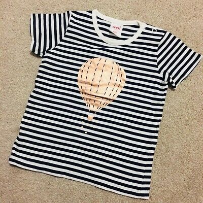 New SEED Baby Unisex Black White Gold Hot Balloon Tee 6-12 Months 0 Boys Girls