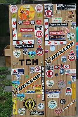VINTAGE STICKERS '70's & '80's stuck on old wardrobe doors/ drawers