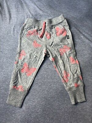 Bonds Girls Bottoms Grey With Pink Butterflies Size 1 **brand New With Tags**