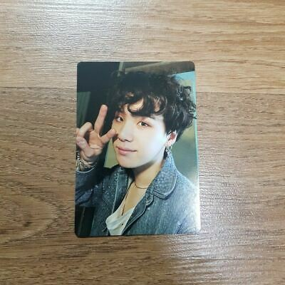 "K-POP BTS World Tour ""LOVE YOURSELF"" OFFICIAL Limited SUGA Photocard"