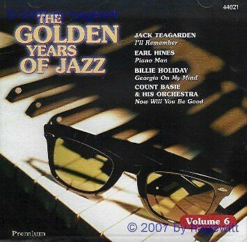 |963631| Various Artists - The Golden Years of Jazz Vol. 6 [CD x 1] New