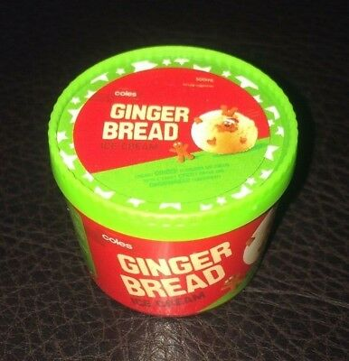 Coles Little Shop Mini Collectables<<-->>Christmas Edition Gingerbread Ice Cream