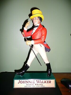 "Vintage JOHNNIE WALKER Whisky statue Figure Plastic 16"" tall Tunnicliffe England"