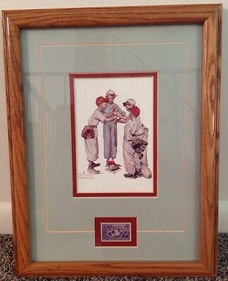 REPRINT PICTURE of older postcard NORMAN ROCKWELL 4 BOYS PLAYING BASEBALL 5x7