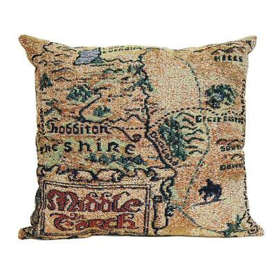 The Hobbit Map of Middle-earth Woven Pillows 20 x 20 Tapestry Pillows NEW
