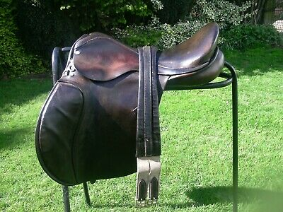 """Quality Calcutt & Sons Saddlery GP Saddle 18"""" Narrow Fit Suit High Withers VGC"""