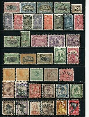 Belgian Congo 1931-59 Album 8 Pages 198 Stamps Mint Used