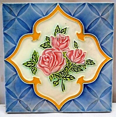 Tile Japan Vintage Majolica Ceramic Porcelain Collectibles Art Nouveau Ceramic