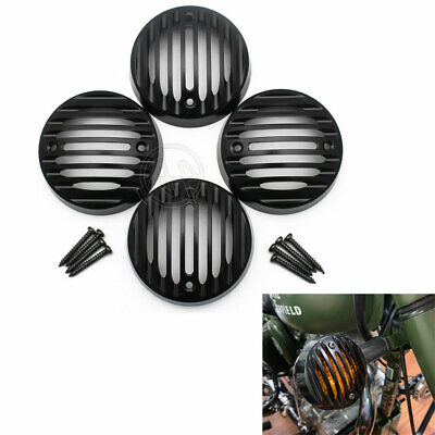 4PCS Turn Signal Light Protector Indicator Grill Cover for Royal Enfield Classic