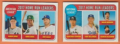 Lot of (2) 2018 Topps Heritage 2017 Home Run Leaders National and American