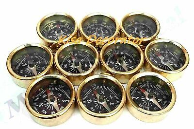 Lot of 20 PCS Vintage Collectible Designer Golden Finish Antique Compass GIFT