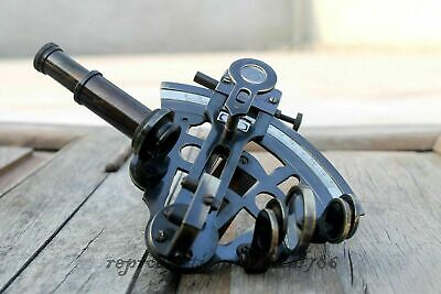 """5"""" Antique Marine Sextant Solid Brass Astrolabe Nautical Maritime Sextant Gift"""