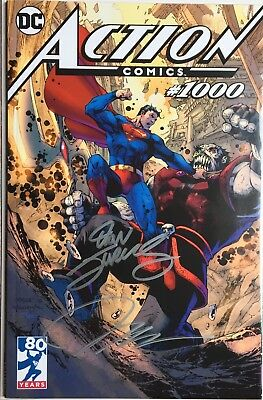 Action comics #1000 signed by Jim Lee tour & Dan Jurgens Comic Con Paris 2018 NM