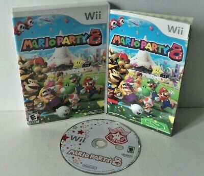 Mario Party 8 (Nintendo Wii) Good Disc Tested Case Family Board Game Minigames
