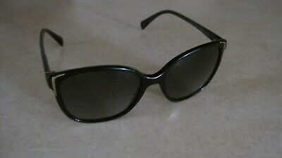 210b73ee9b3f Prada Women s Gradient SPR01O 55o17-1AB5W1 140 3p Black Cat Eye Sunglasses