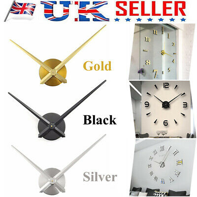 Large Silent Quartz Wall Clock Movement DIY Hands Mechanism Repair Tool Parts UK