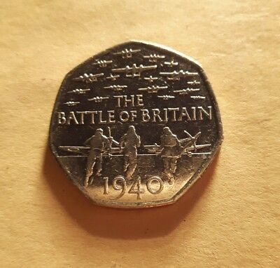 2015 Battle Of Britain 50p Fifty Pence Coin Circulated