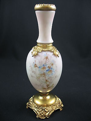 Stunning Antique Hand-Painted China Candle Holder With Gilding