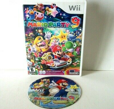 Mario Party 9 (Nintendo Wii) Disc Case Family Board Game Minigames Super Tested