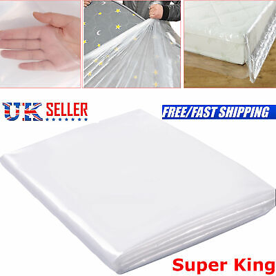 Heavy Duty Single Bed Mattress Bag Dust Protection 400 Gauge Polythene Plastic
