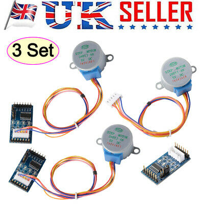 3pcs DC 5V Stepper Motor 28BYJ-48 + ULN2003 Driver Test Module Board for Arduino