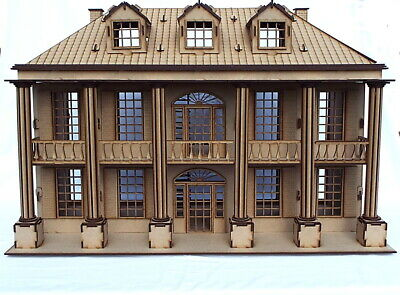 Laser cut wooden mansion house model Kit dolls house kit diy project flat packed