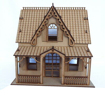 Dolls House wooden Dollhouse Kit laser cut flat packed diy project AS1