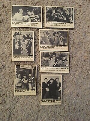 1966 Fleer THE THREE STOOGES 7 trading card Lot. HIGH GRADE!!