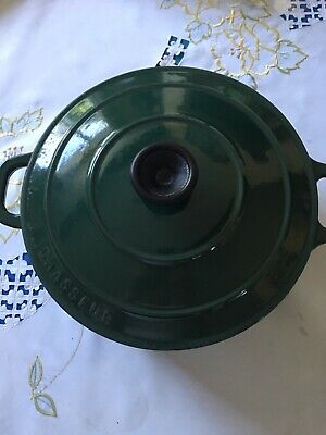 CHASSEUR CASSEROLE DISH , 24 Large Same As Lecruset , Cost Over £100 Vgc Green