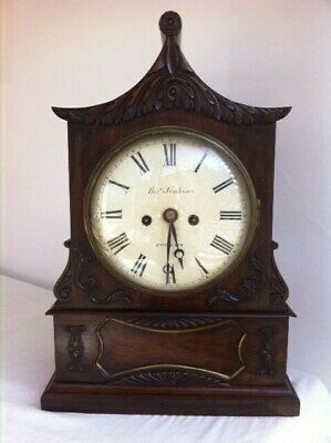 Antique 1847 Rare Welsh Bracket Clock Rosewood Untouched 30 Years