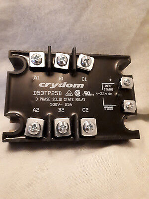 CRYDOM D53TP25D- Solid State Relay, 25 A, 530 Vrms, Panel, Screw, Zero Crossing