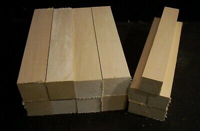 13 Piece Basswood 1 1/2 & 2 sq x 11 Carving Lumber