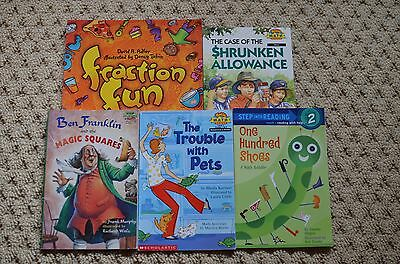 Lot 12 Math Book fun~Step~Ben Franklin Magic Square~Allowance~Ratios~David Adler