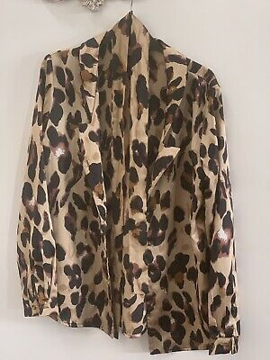 96f3ec66997 NEVER FULLY DRESSED Leopard Print Ezra Wrap Dress Size S M Worn Once ...