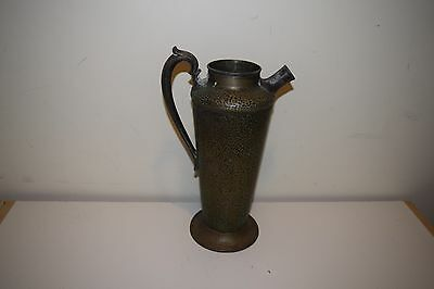 Meriden S P Co Hammered Mixed metal pitcher Jug Urn 56 oz