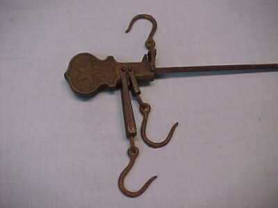 """Antique Cast Iron Star Hanging Scale 16 1/2"""" Long"""