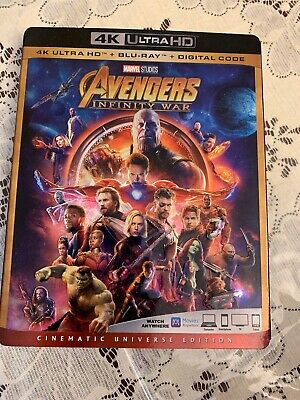 Avengers Infinity War (4K Ultra HD+Blu-ray) Slipcover Like New NO CODE