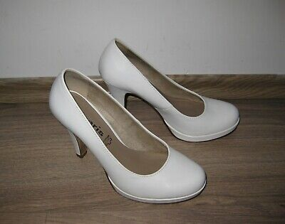 6f41fed1721d08 TAMARIS BRAUTSCHUHE BUSINESS Plateau Pumps Leder weiß - EUR 1